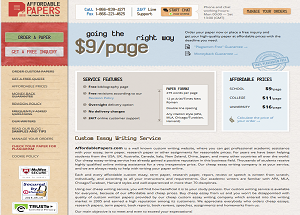 AffordablePapers.com screenshot